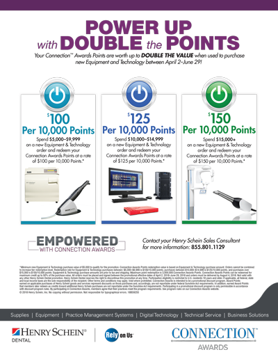 Henry Schein Double Your Points Promotion Q2 2018